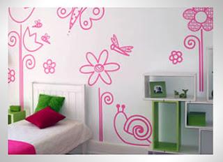 decoração quarto de rosa