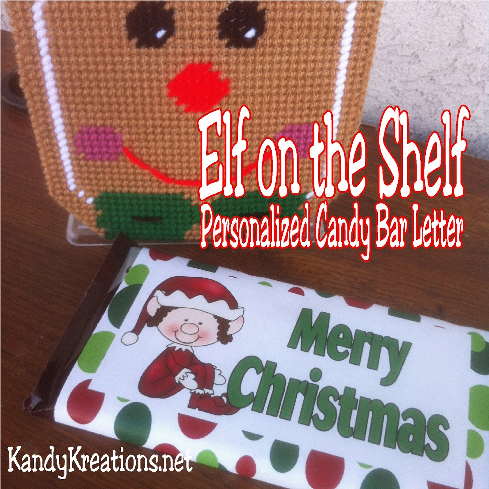 Give your child a personalized letter from their Elf on the Shelf with this free printable.  You can customize this candy bar wrapper with your child's information and give as a sweet gift this Christmas.  You and you're elf with be the hit of the day!