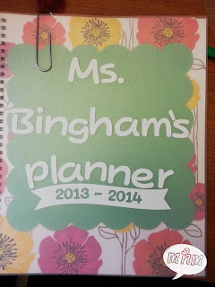 Teacher planner vinyl cover