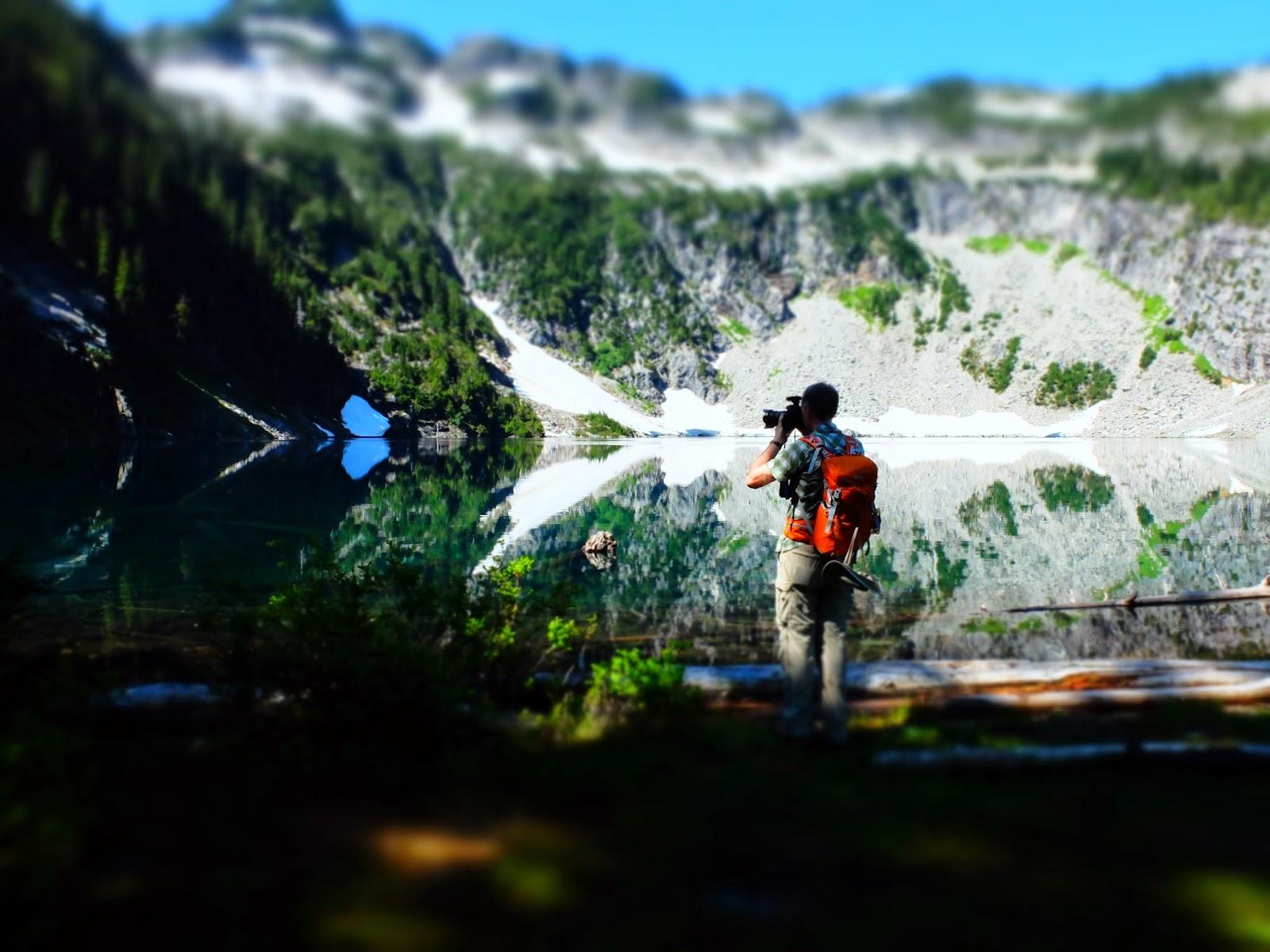 Viewing Malachite Lake Behind the Photographer (miniature effect)