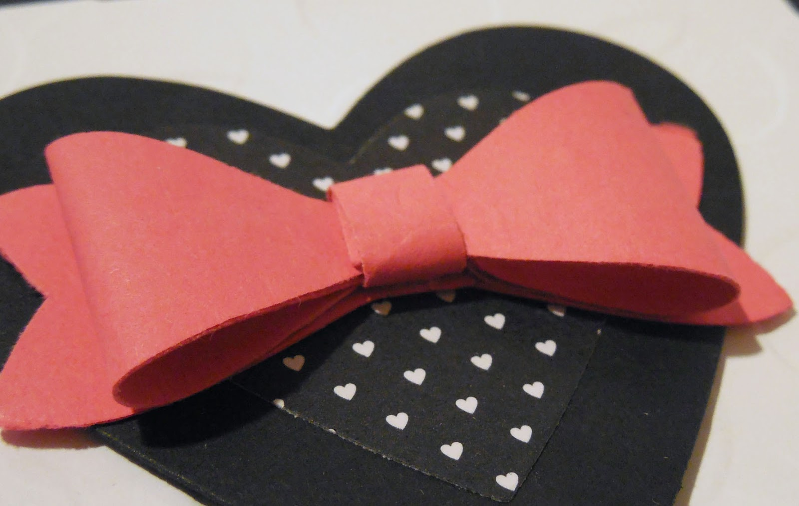 Paper Bow made with parts punched using Stampin'UP!'s Bow Builder Punch