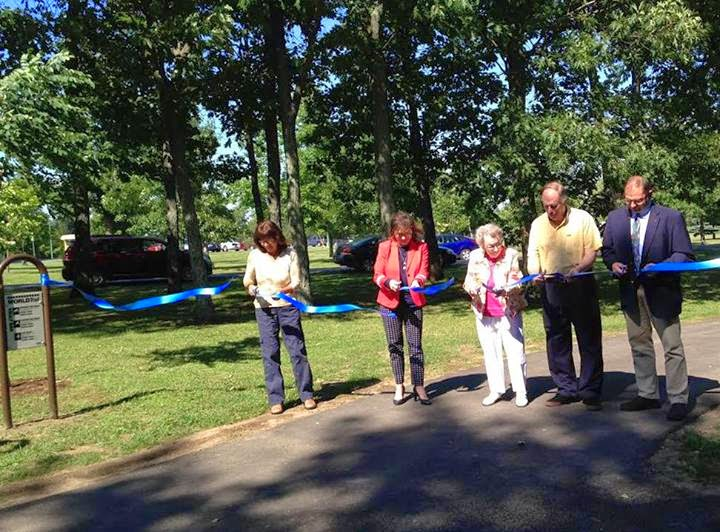 Ribbon Cut on Rotary Fitness Trail