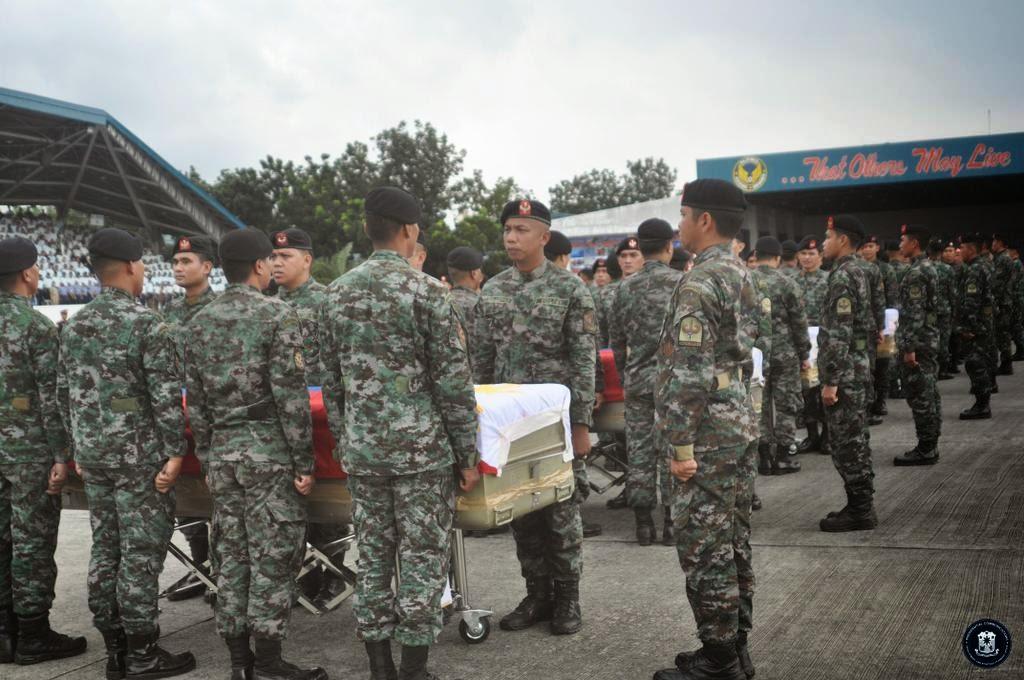 Arrival of honors at the Villamor Air Base on Thursday