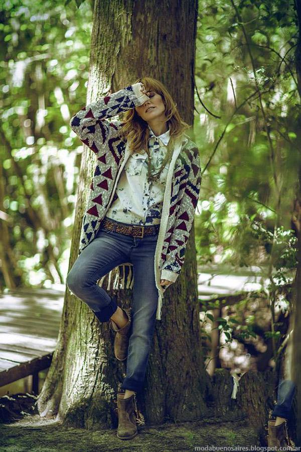 Moda otoño invierno 2015 sacos y cardigans tejidos, abrigos 2015 Sail.