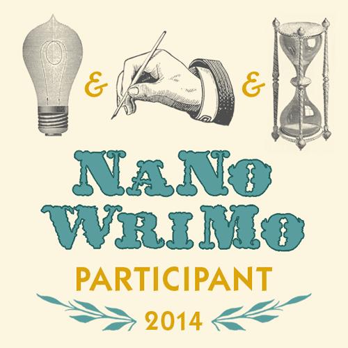 This year's NaNoWriMo badge.