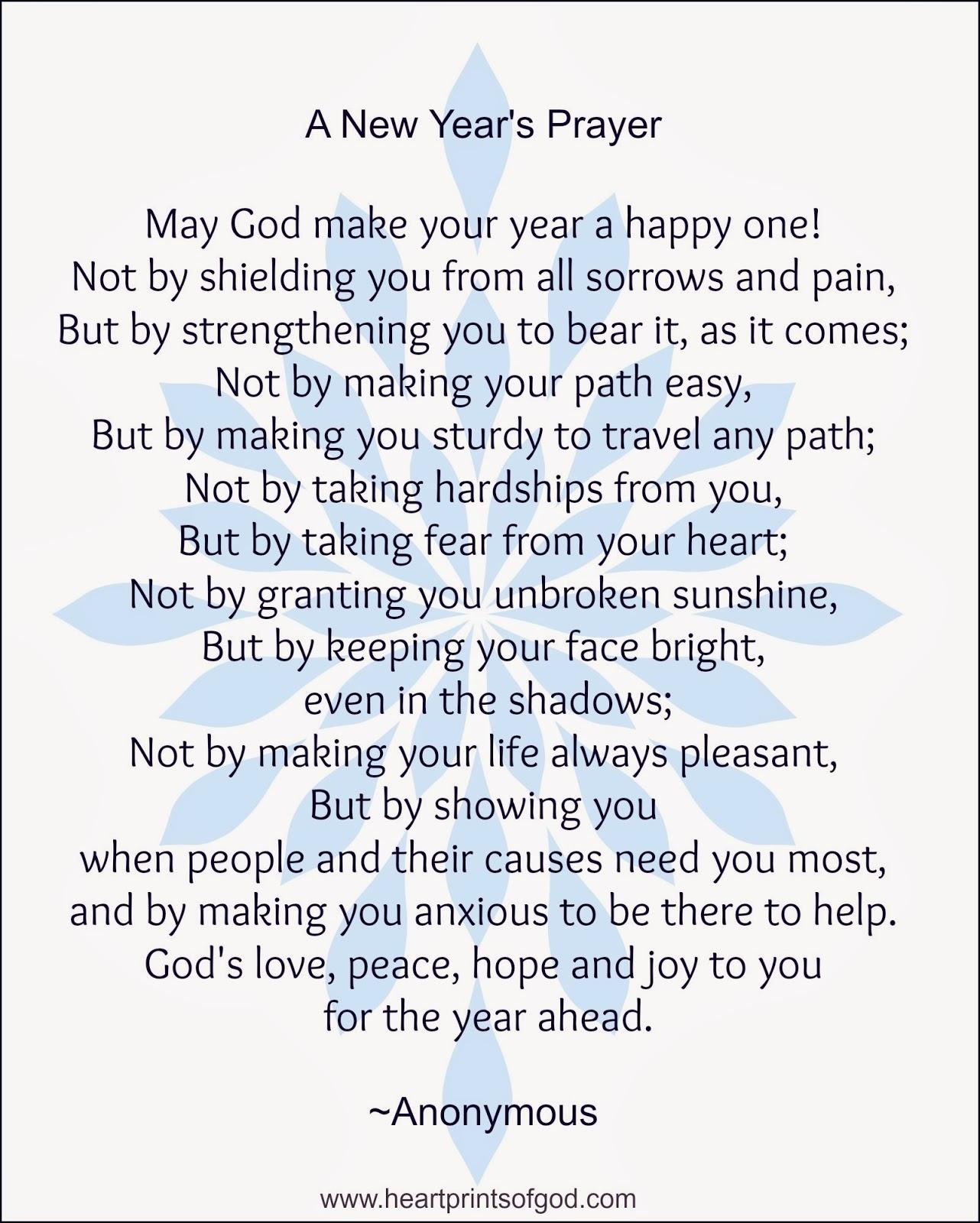 Heartprints of God: A New Year\'s Prayer~