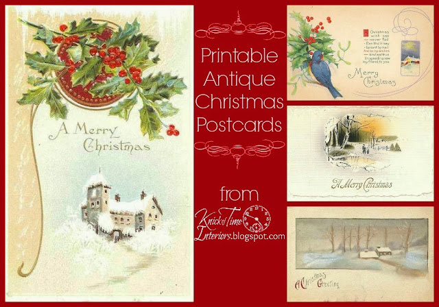 Royalty Free Printable Antique Christmas Postcards via Knick of Time