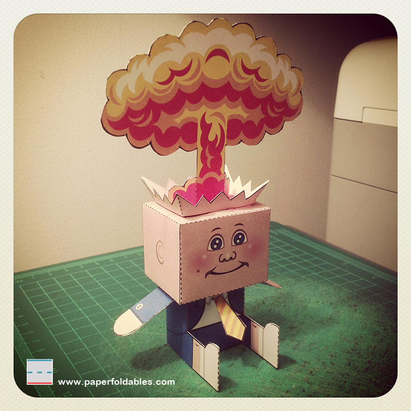 Garbage Pail Kids Papercraft Adam Bomb