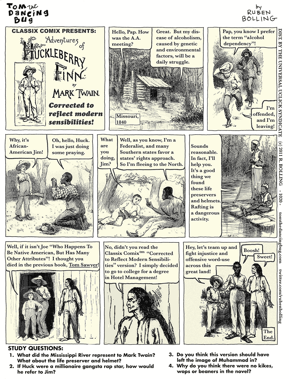 the story of huck finn in his hometown of hannibal missouri