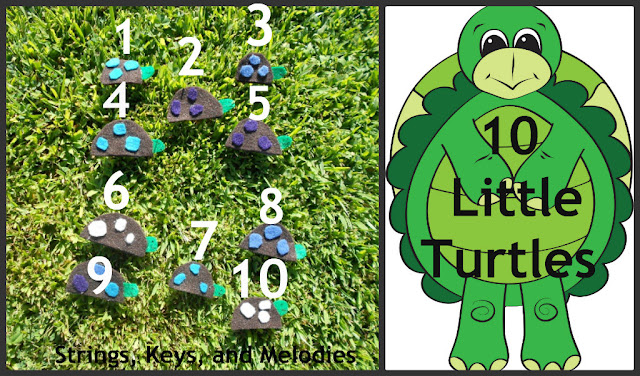Finger Play Fun Day:  10 Little Turtles photo