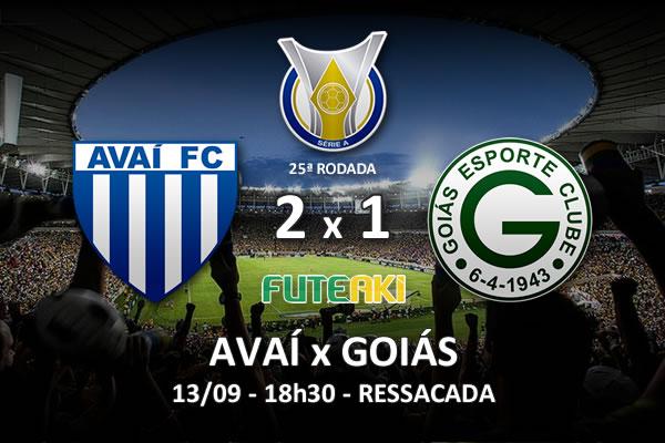 Veja o resumo da partida com os gols e os melhores momentos de Avaí 2x1 Goiás pela 25ª rodada do Brasileirão 2015.