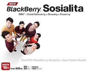 SimPATI BlackBerry Sosialita : Gaul Makin Mudah