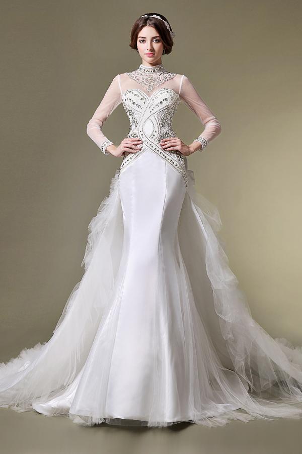 Wedding Event Dress That Women Love 12 High Neck Wedding Dress The Ideal Choice For Modest Bride