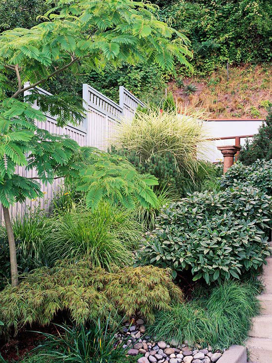 New home interior design smart side yard solutions for Sloped yard solutions