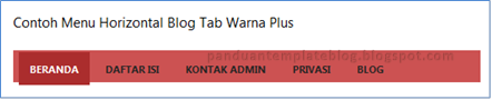 Menu Horizontal Blog Tab Warna Plus