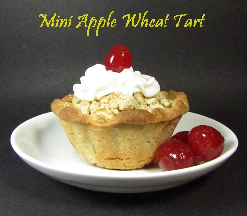 mini apple wheat tart
