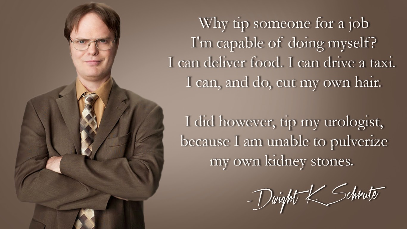 Kidney Stones Tipping Dwight Schrute The Office Wallpaper