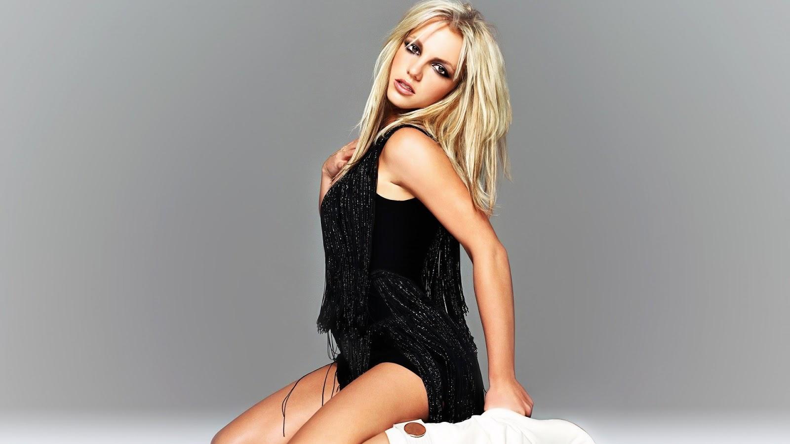 Britney Spears in Black Fringe Dress