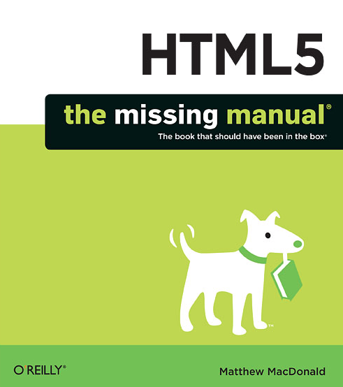 HTML5: The Missing Manual front cover