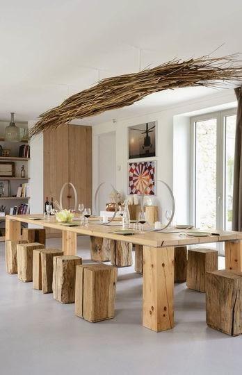 Du bois dans la maison en mode design nature - Maison nature et bois ...