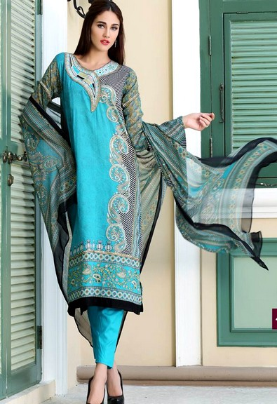 Firdous Chiffon Collection 2015