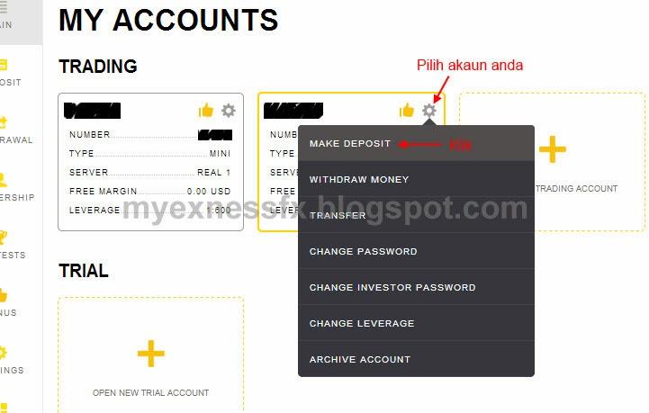 cara deposit excard 1 exness malaysia