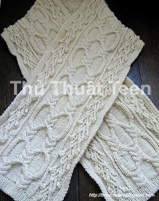 Cùng học cách đan khăn len kiểu Yuliya 1