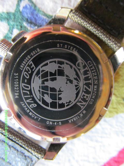 Citizen BM8180-03E Men's Eco-Drive Watch: Closeup Of Case Back