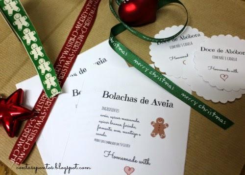 Etiquetas de cabazes de Natal