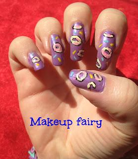 donuts nail art