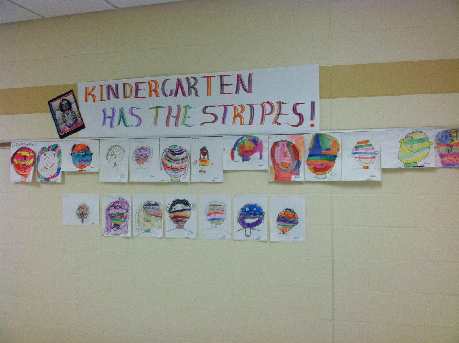 O\'Neill\'s Art Room: Kindergarten Has the Stripes!