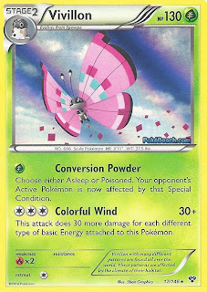 Vivillon X and Y Pokemon Card