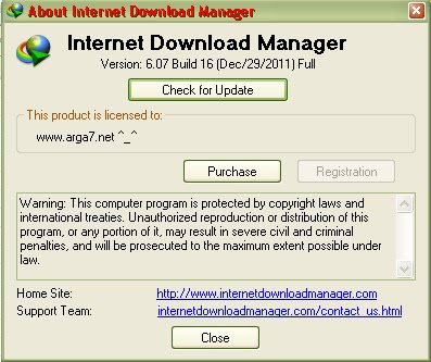 Internet Download Manager 6.07 Build 16