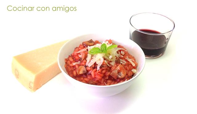 Risotto de remolacha y setas portobello cocinar con amigos for Cocinar remolacha