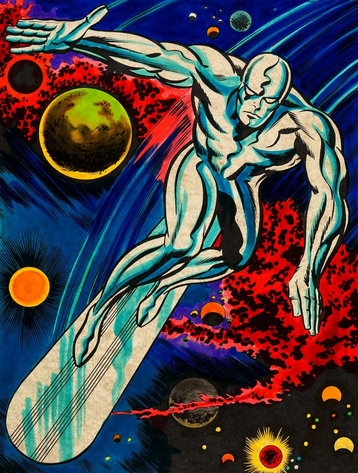 capns comics marvelmania silver surfer by jack kirby