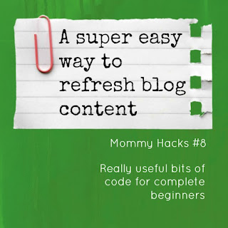 A super easy way to refresh blog content