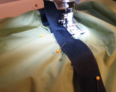 covering the seam with ribbed strap