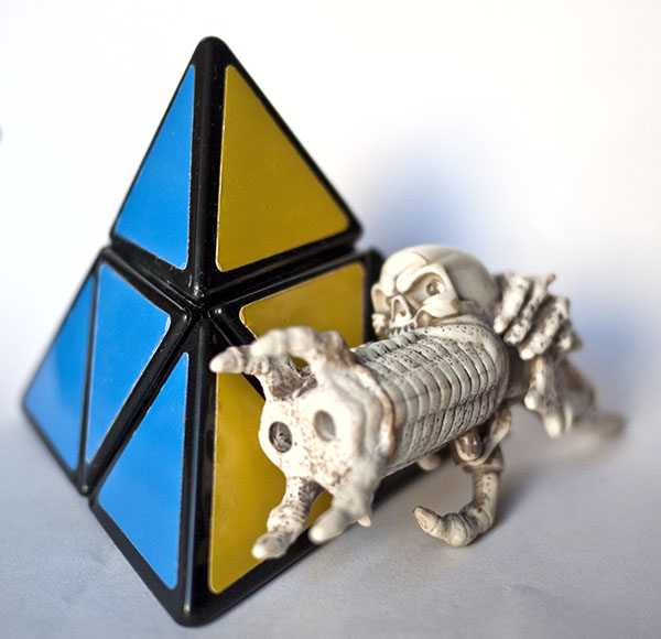 Pyramorphix Rubik alien gun biomechanical