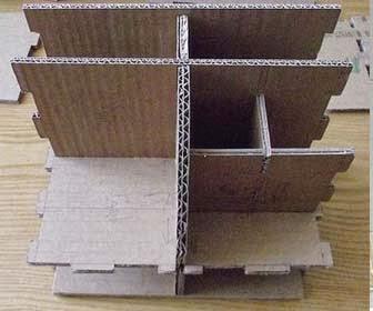 Membuat Rak Mini Dari Kardus Bekas