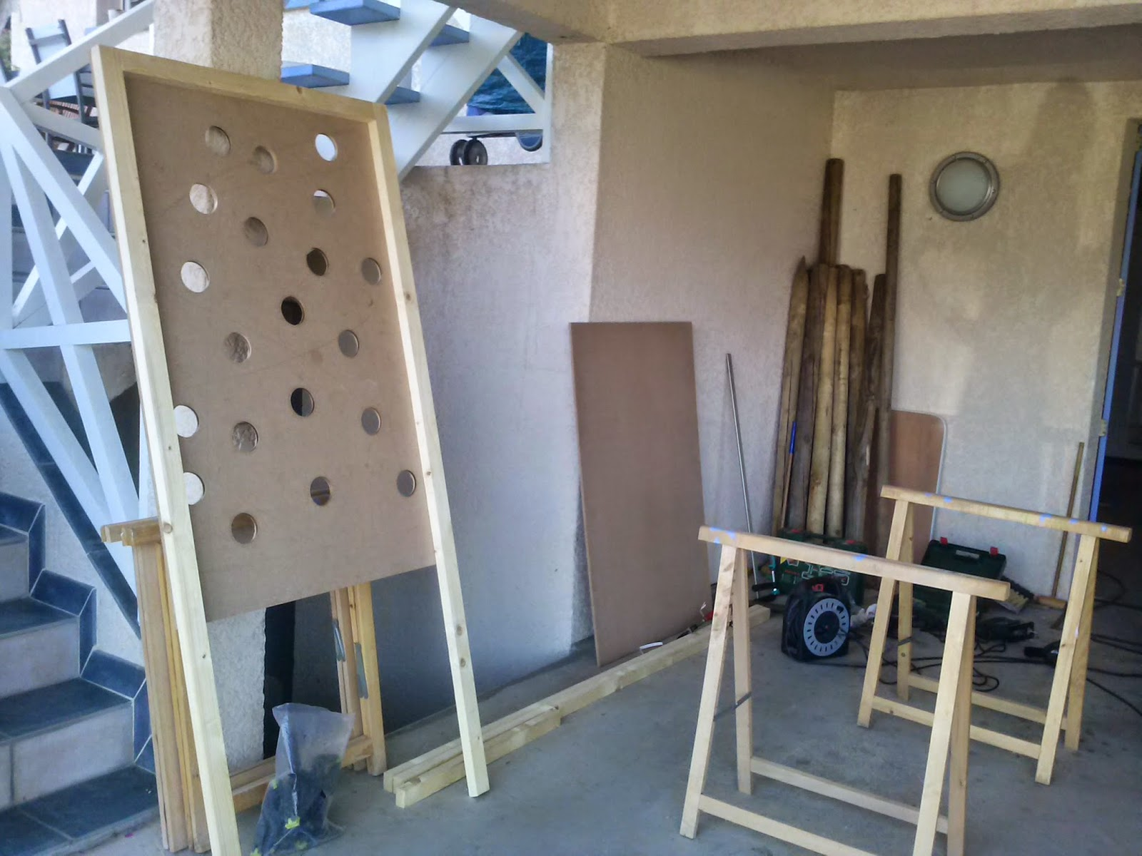 c fair play jeu en bois en cours de fabrication le remonte balle. Black Bedroom Furniture Sets. Home Design Ideas