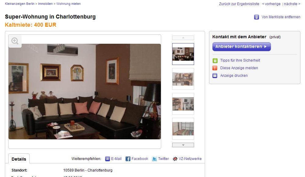 Wohnung Mieten Ebay Kleinanzeigen