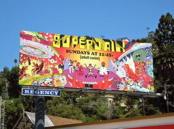 Superjail! season 4 Adult Swim billboard
