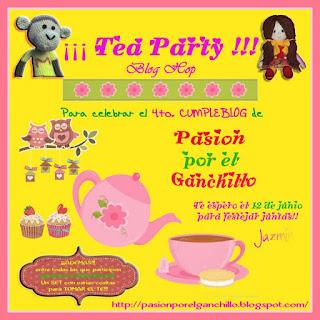 Cartel de invitación al cuarto cumpleblog de Jazmín