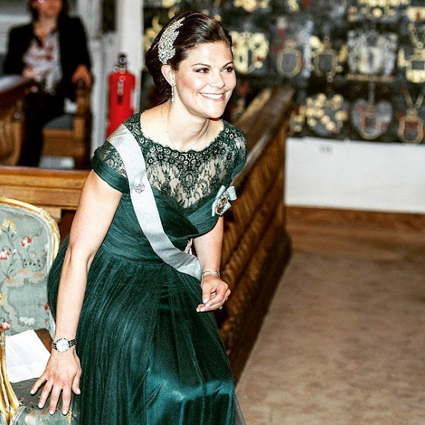 Crown Princess Victoria of Sweden attended the annual meeting of the of the Swedish Academy of Sciences in Stockholm