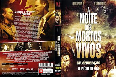 A Noite dos Mortos Vivos Re-Animação DVD Capa