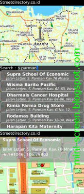 Jakarta Map and Street Directory App for BlackBerry