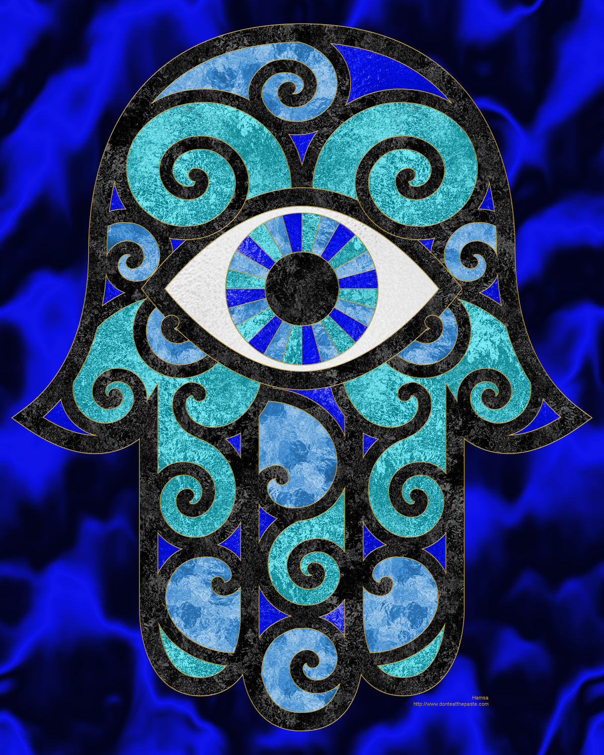 Hamsa Hand Coloring Pages