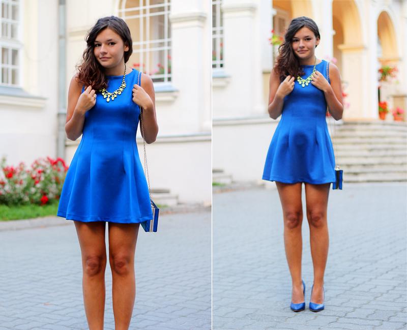 stylizacja wesele chabrowa sukienka