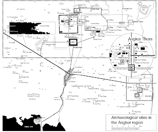 Map Temples of Angkor - Cambodia