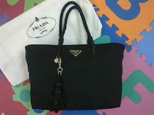 Prada Tessuto Nylon Black Tote Bag(SOLD)